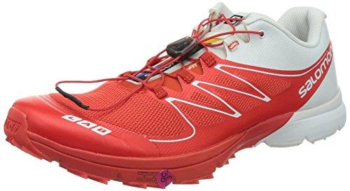SALOMON S-Lab Sense 2 Scarpa da Trail Running Unisex, Rosso/Bianco, 39 1/3