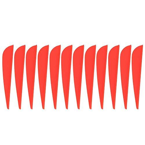 Alomejor 12 Stücke Pfeilfeder 3 Zoll DIY Pfeil Befiederung Zubehör für Bogenschießen Jagdschießen(Rot)