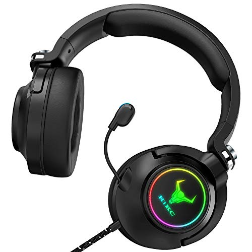 Kikc ET600 PS4 Headset,Stereo Gaming Headset for Xbox one, PS4, PS5, Xbox Series X, PC, Mac(Rotating Ear Shell Headphones, Storage Swivel Microphone)