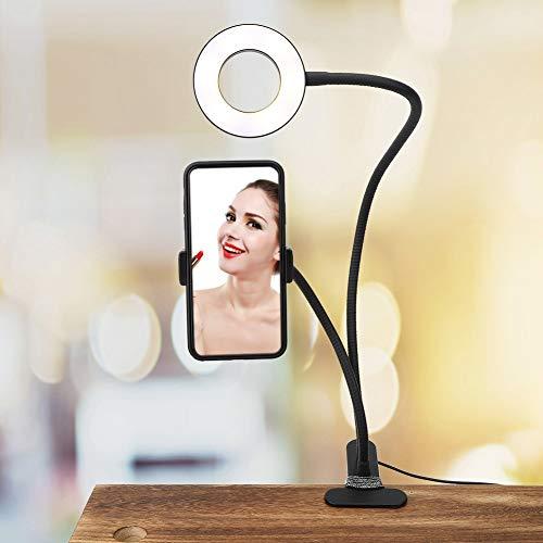 Changor Luz de llenado Negro, Hecha de aleación de Aluminio 5V File Light Light Light Conferencia Lighting para TRADIDAS EN Live