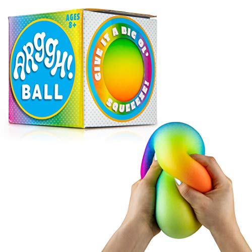 cheap Power Up Your Fun Arggh Rainbow Giant Stress Ball for Adults and Kids – Jumbo Squeeze Stress Ball…