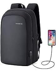 ビジネスリュック メンズ バックパック かばん PCバッグ USB充電ポート付き 15.6インチ収納 耐衝撃 撥水加工 多機能ポケット 超大容量 荷物ストラップ付き 通勤 通学 出張 旅行 カバン 黒