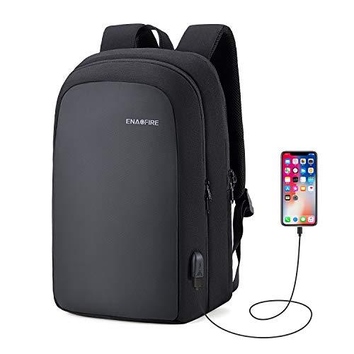ビジネスリュック メンズ バックパック かばん PCバッグ USB充電ポート付き 15.6インチ収納 耐衝撃 撥水加工 多機能ポケット