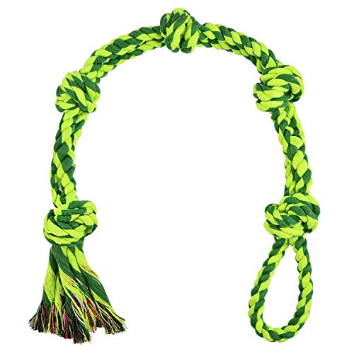 Vitscan Dog Toys for Large Dogs and Aggressive Chewers, Extra Large Durable Dog Toy,5-Knot Rope Tug,Heavy Duty Chew Sturdy Cotton Knot Rope Toy for Large Breed Dogs,Indestructible Rope