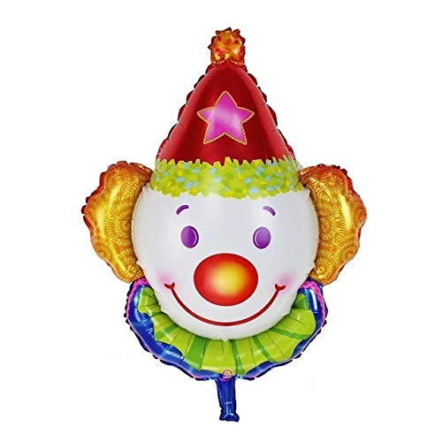 Review Xucus Clown Foil Balloons Children Classic Toys Inflatable Helium Balloon Birthday Air Balloo...