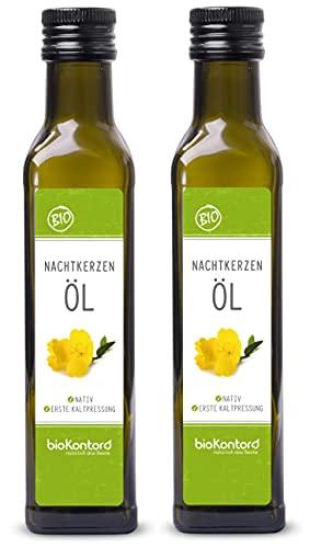 Bio Nachtkerzenöl 500ml (2x 250ml) nativ und kaltgepresst I 100% rein von bioKontor