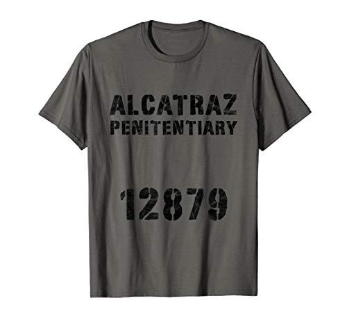 Alcatraz Sträfling Knast Häftling Gefängnis Kostüm Orange T-Shirt