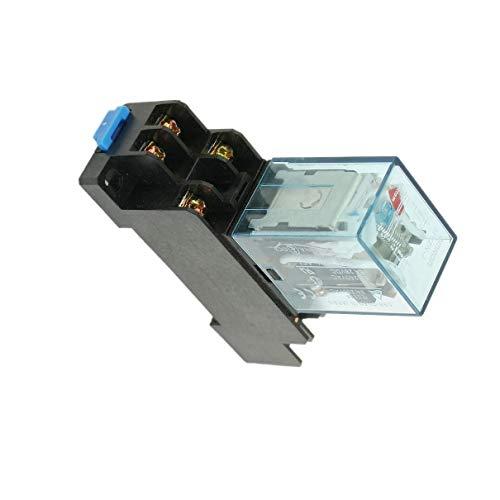 Aexit MY2N-J MY2NJ Relé de potencia de bobina de 220 V CA 8 PIN 5A con base (model: V8736IVVIII-5341WA) de zócalo PYF08A