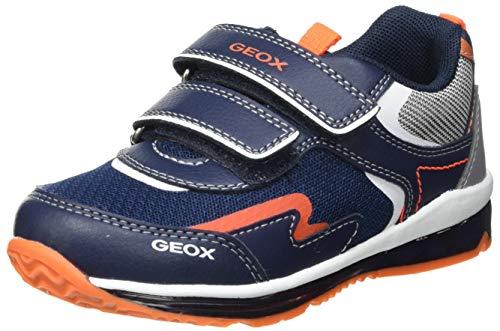 Geox B Todo Boy A, Zapatillas Niños, Navy/Fluor Orange, 24 EU