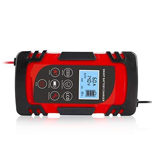 Elikliv Coche Moto Cargador de Batería, 12V 24V 4A 6A 8A Completo Automático Batería Potencia Pulso Reparación Mojado Seco Ácido Plomo Battery-Chargers Digital Pantalla LCD