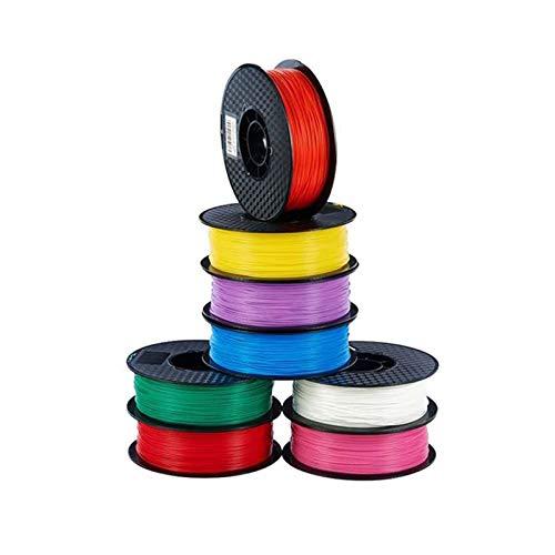 AGiao Filamento de impresora 3D de alta resistencia de 1,75 mm, 1 kg, carrete de impresión colorido, PLA para impresora o 3 D Pen School Dibujo Suministros Buena dureza (color: blanco 1 kg)
