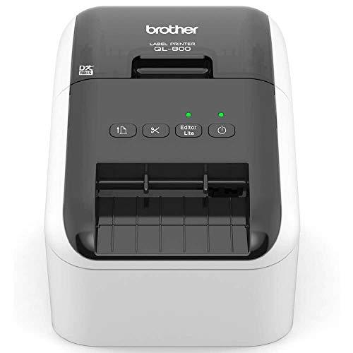 Brother Ql-800 Direkt Wärme Farbe 300 X 600Dpi Schwarz, Grau - Etikettendrucker (Direkt Wärme, 300 X 600 Dpi, Zentrum, Links, Schwarz, Rot, Raster_P, Verkabelt)