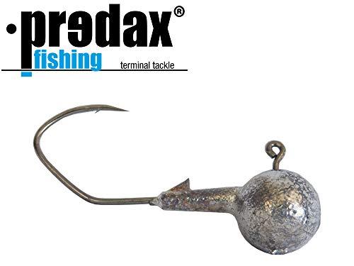 Predax Fishing MSM Jighaken - Jigköpfe für Gummifisch, Haken für Hecht, Zander, Barsch, Jigkopf für Gummifische, Angelhaken für Gummiköder, Größe/Gewicht / Packungsinhalt:Gr. 1/0 / 7g / 5 Stück