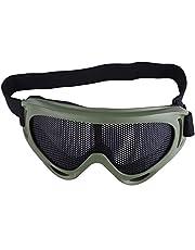 Demeras Tactics Mesh Skyddsglasögon Justerbar Airsoft Glas Halva Ansikte Huvudbonad för Paintball