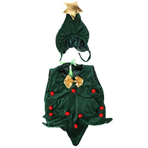 STOBOK árbol de Navidad Disfraz Sombrero bebé fotografía Infantil Cosplay Prop Vestido