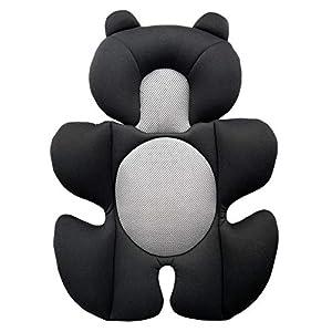 G Ganen Infant Baby Cozycushion Sleeping Cushion Support Cushion Stroller and Seat Comfort Cushion 3D Mesh Breathable Liner (Black Bear)
