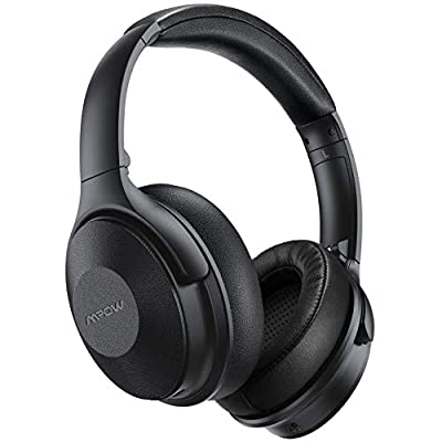 Mpow 45Hrs Noise Cancelling Headphones Wireless, Quick Charge Bluetooth Headphones Over Ear, Hi-Fi Deep Bass Wireless and Wired Headset, Built-in Mic for Home Office Online Class Travel Phone PC TV from Mpow