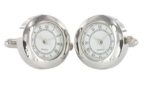TEROON Prestige Manschettenknöpfe Uhr speziell gehärtetes Mineralglas