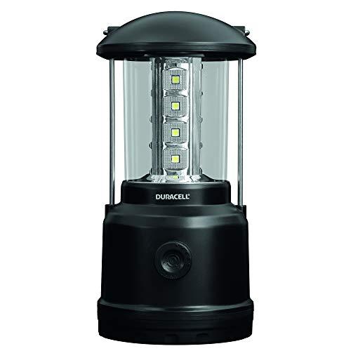 Duracell Zaklamp, Explorer-lantaarnserie lantaarnzaklamp, 90 lumen, LED-licht, zwart kunststof oppervlak, met Duracell batterijen