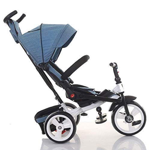 MAGO 4 in 1 Reclinable und 360 ° Rotating Kindersitz Trike/Tricycle mit Sonnendach und Push Removable Elternteil Lenker (Color : D)