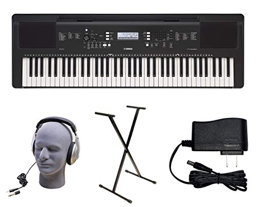 Yamaha PSR-EW310 PKY 76-Key Premium Keyboard Pack with Power Supply, Bolt-On Stand, and Headphones, YAM PSREW310