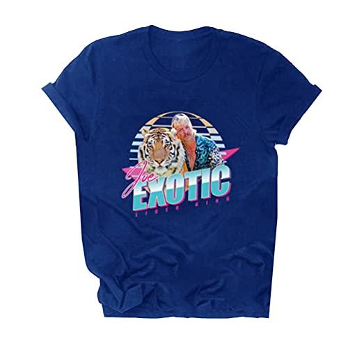 Tiger King Joe Exotic Camiseta Camiseta de manga corta de moda del diseño del inconformista todo el algodón de manga corta camiseta unisex de los hombres y mujeres de las mujeres de peso ligero de man