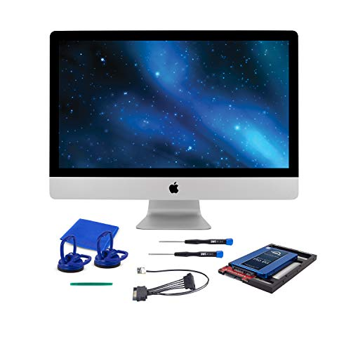 "OWC 1TB SSD Upgrade Bundle For 2011 iMacs, OWC Mercury Electra 1.0TB 6G SSD, AdaptaDrive 2.5"" to 3.5"" Drive Converter Bracket, In-line Digital Thermal Sensor Cable, Installation tools, OWCKITIM11HE1TB"