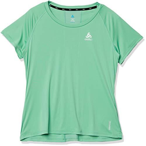 Odlo - Maglietta da Donna Ceramicool Element Crew Neck, Donna, Maglietta da Donna, 312651, Crema De Menthe, XL