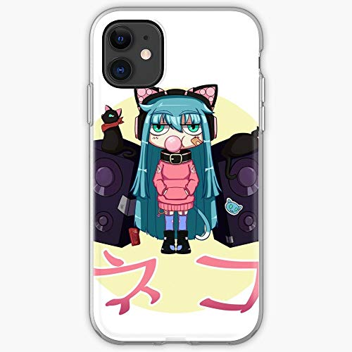 Anime Music Girls Toon Cat Cool Cute Juvenile | Phone Case for iPhone 11, iPhone 11 Pro, iPhone XR, iPhone 7/8 / SE 2020