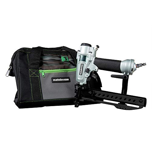 Metabo HPT Pro Finish Stapler, Pneumatic, 18 Gauge, 1/4-Inch Narrow Crown Staples, 1/2-Inch up to 1-1/2-Inch Staple Length, All-Metal Key Component Construction, Air Duster, Belt Hook (N3804A5)