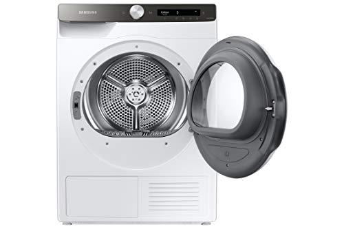 Samsung Lavasciuga DV80T5220TT/S3 con AI Control, Air Wash, Pulizia Cestello, Porta Reversibile, Prevenzione Pieghe, Tecnologia Optimal Dry, Filtro 2 in 1, Colore Bianco