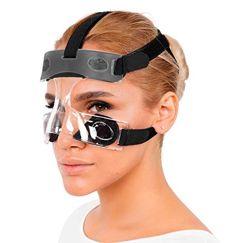 invera Nose Guard Face Shield Protective Mask for Broken Nose, One Size Fits Most, Unisex, Clear Vision, Adjustable Straps