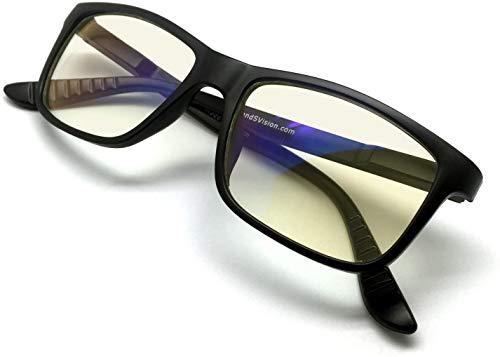 El nuevo espejo plano TR90 de marco completo para arroces, doble cara, anti-azul, se puede equipar con gafas para hombres y mujeres (color negro)