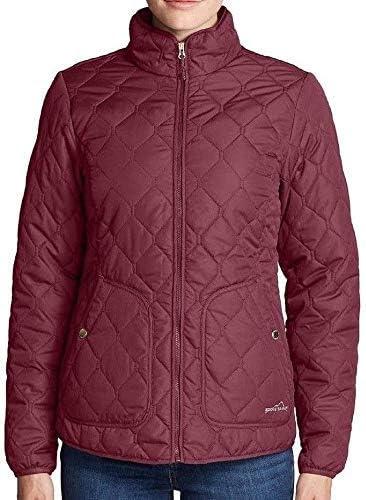 Eddie Bauer Women's Year Round Quilted Field Jacket (Small) Dark Berry