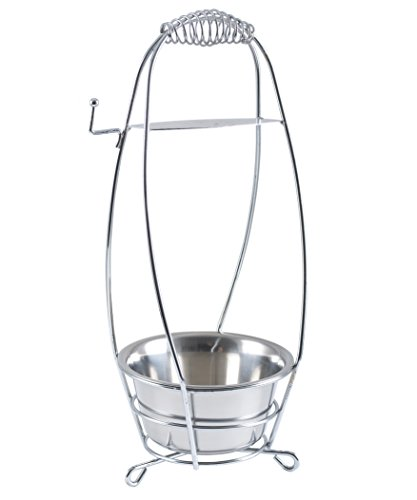 Amy Deluxe Shisha Kohlekorb Chrom | Kohlebehälter für Wasserpfeifen-Kohle