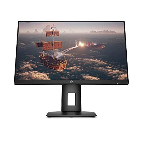 HP X24ih Gaming Monitor - 24 Zoll Bilschirm, Full HD IPS Display, 144Hz, AMD FreeSync Premium, HDMI, DisplayPort, 1ms Reaktionszeit, VESA Mount 100 x 100mm, 99% sRGB, höhenverstellbar) schwarz