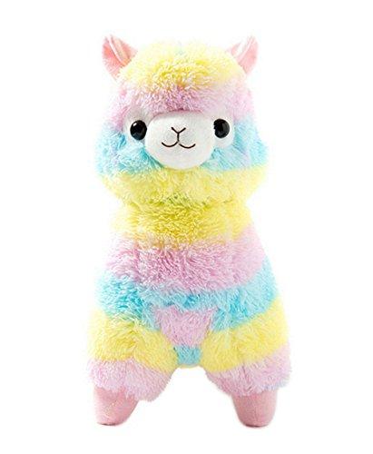 Kuschelige Rainbow Alpaca Soft Puppe weich Lama gefüllt Tier Spielzeug Geburtstag 13
