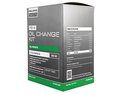 Polaris Full Synthetic Oil Change Kit, 3 Qts. of PS-4 Engine Oil and 1 Oil Filter