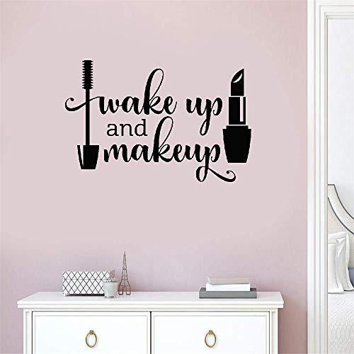 stickers muraux 3d stickers muraux chambre Réveil Et Maquillage Filles Salle De Bains Miroir Vanity Rouge À Lèvres Mascara Salon De Beauté