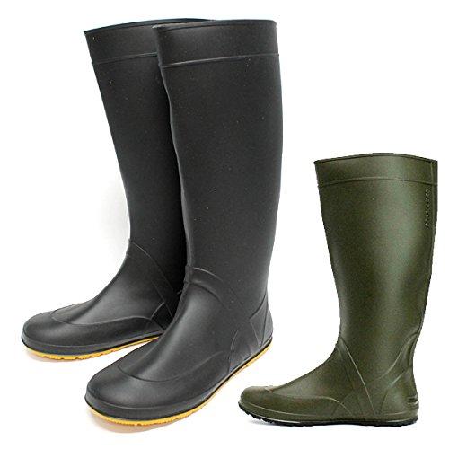 [フクヤマゴム] 農作業 田植え用 田植え長靴 長靴 防水 ノーカーズ#1 作業靴 22.5-28cm (3L(27.5-28.0cm), カーキ)