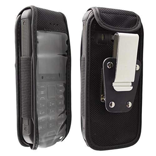 caseroxx Nylon-Tasche für Nokia 800 Tough in schwarz, Robustes Holster
