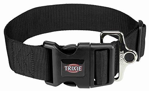 Trixie 1999401 Premium Halsband, L–XXL: 55–80 cm/50 mm, schwarz