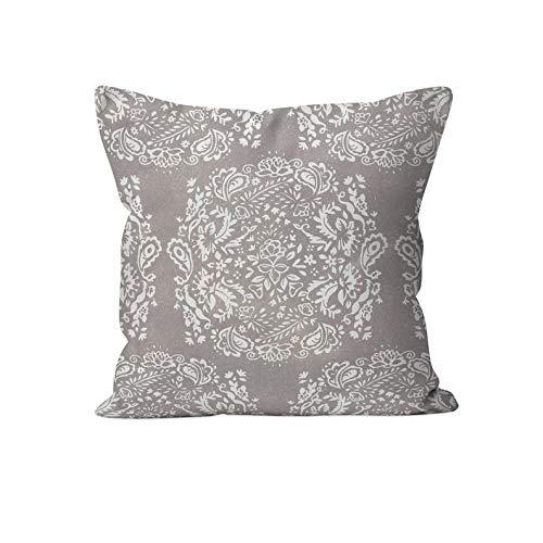 43LenaJon Fundas de almohada de lino de algodón, fundas de almohada de tela de cachemira, fundas de almohada de estilo rústico francés, fundas de almohada decorativas
