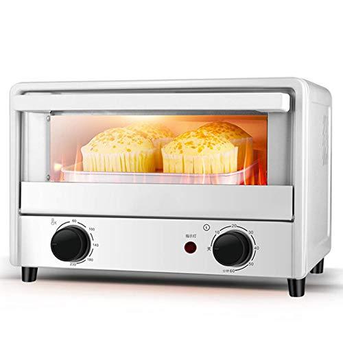 Riyyow Cocina Mini tostadora Horno, 14L Aire Fryer Horno Convección Rotisserie Horno Tostadas/Horneado/Poino/Asado/Dehidrato, Temporizador de 60 Minutos, 1000W