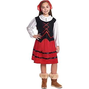 Disfraz de Pastora niña Infantil para Navidad 7-9 años: Amazon.es ...