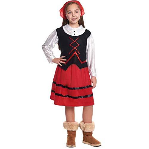 Disfraz de Pastora niña Infantil para Navidad 2-4 años (+ Tallas)