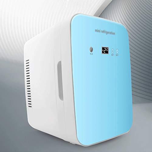 Mini Nevera,Mini Fridge, Refrigerador compacto 8L Mini refrigerador con control de temperatura digital portátil pequeña nevera for el dormitorio Cuidado de la Piel de coches Ministerio del Interior Mi
