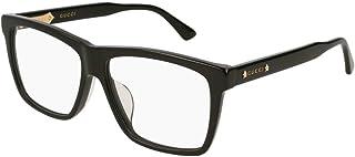d44b56b8c3a Gucci GG0268OA Asian Fit Wide Rectangular Eyeglasses 57mm