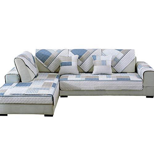 Homeen Protectores de sofá resistentes a las manchas, funda de sofá impresa gruesa, cojín de salón de algodón, funda de sofá seccional, funda de sofá para hogar/cocina – 70 x 70 cm