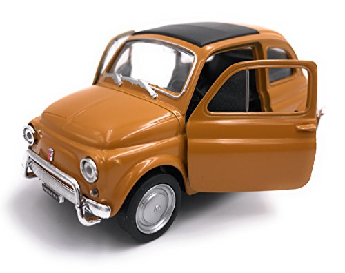 H-Customs FIAT Nuova 500 Modelauto auto gelicentieerd product 1:34-1:39 OVP oranje